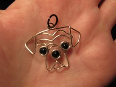 Wire Wrapped Dog Head