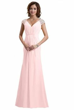 Emma Y New Double V-neck Bridesmaid Gown