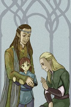 "Elrond: ""Say hello to Prince Legolas, Estel. I'm sure you two will be good friends."""