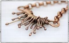 Organic Copper Wire Wrap - Necklace, Whim Originals