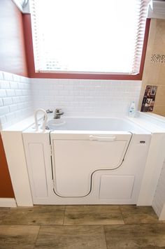 Oversized Tub - Handicap Accessible - Walk-in Bathtub - Grab Bars - Universal Design - Aging in Place Design - Durabath Surround - Bathroom Remodel -