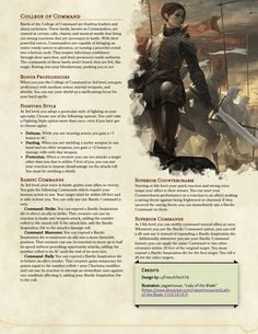 Bard: College of Command - Guide your allies in combat with your powerful voice! Dungeons And Dragons Rules, Dungeons And Dragons Classes, Dungeons And Dragons Homebrew, Dnd Backgrounds, Dnd Sorcerer, Dnd Bard, Dnd Stories, Bard College, Dnd Races