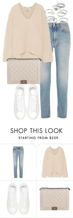 """Untitled #2601"" by theeuropeancloset ❤ liked on Polyvore featuring Acne Studios, Anine Bing, Chanel and Candie's"