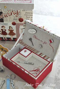 Pin by shiroibun on Cartonnage Stitch Box, Bordados E Cia, Christmas Gifts To Make, Vintage Embroidery, Embroidery Ideas, Cross Stitch Finishing, Shabby Chic Crafts, Cross Stitch Samplers, Needlepoint Kits