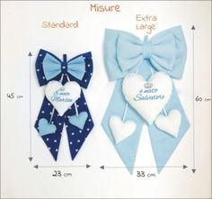 misure fiocco nascita: i fiocchi nascita sono realizzabili in due dimensioni: misura Fiocco Standard: 23 cm x 45 cm e Misura Fiocco Extra Large 33cm x 60 cm Baby Shower Fall, Baby Shower Parties, Baby Boy Shower, Baby Co, Baby Birth, Baby Crafts, Diy And Crafts, Baby Mobile, Baby Bling