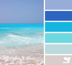surf hues color palette from Design Seeds Wall Colors, House Colors, Paint Colors, Colour Schemes, Color Combos, Colores Ral, Color Palate, World Of Color, Color Swatches