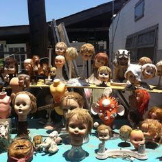 Creepy doll heads.