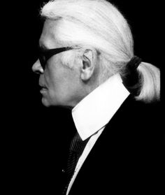 "Karl Lagerfeld, by himself. ""I wanted to become a cartoon artist, a portrait artist, and an illustrator. This was my first idea."""
