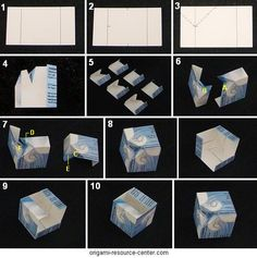 Learn how to make a special business card origami cube called a Columbus cube.