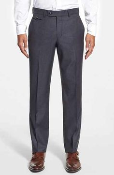 Ted Baker London Ted Baker London 'Columbus' Flat Front Houndstooth Wool Trousers available at #Nordstrom