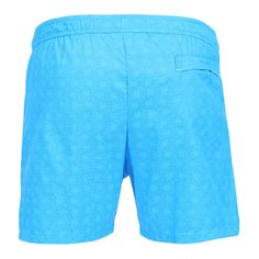 LIDO 1 MID-LENGHT BOARDSHORTS COLOR LIGHT BLUE Made in Italy light blue Jacquard nylon LIDO 1 mid-length boardshorts. Two front pockets and a small press stud pocket featuring an hexagonal metal decoration. Back pocket. Internal net. Elastic waistband with adjustable drawstring. COMPOSITION: 100% POLYAMIDE. Model wears size L he is 189 cm tall and weighs 86 Kg.
