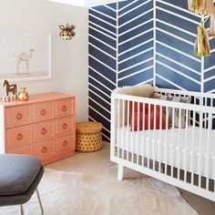 unique elements in this nursery, accent wall