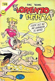 Lorenzo y Pepita Comics Vintage, Vintage Comic Books, Old Comics, Comic Book Characters, Comic Character, Betty Boop, Comics Mexico, Blondie Comic, Retro Ads
