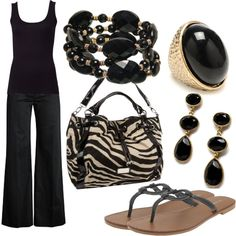 Spring Black, created by jnifr on Polyvore