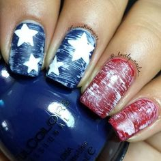 of July Nails! The Very Best Red, White and Blue Nails to Inspire You This Holiday! Fourth of July Nails and Patriotic Nails for your Fingers and Toes! Get Nails, Fancy Nails, Pretty Nails, Hair And Nails, Patriotic Nails, Flag Nails, Nagellack Design, Manicure Y Pedicure, Pedicure Ideas