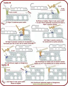 Como leer diagramas de crochet o ganchillo