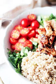 salade composée au poulet au miel 7