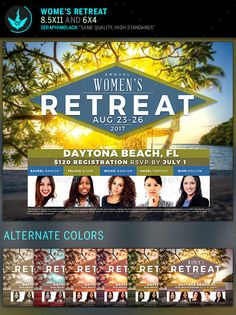 Women's Retreat Flyer  Template — Photoshop PSD #Ribbon Cutting #convention • Available here → https://graphicriver.net/item/womens-retreat-flyer-template/11896199?ref=pxcr