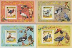 BUR 14101 bWading birds Stamps, Birds, Baseball Cards, Seals, Bird, Postage Stamps
