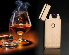 Classic Brand Pulsed Arc lighter USB charging Windproof Lighters Electronic Cigarette Lighter Men Gifts Lighters-JL301