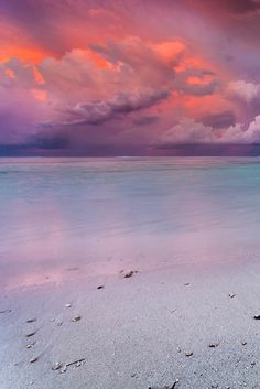 "h4ilstorm: ""Sunset on the Beach """