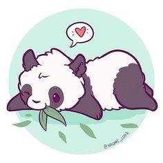 Have a little panda, I agree . - I have a kawaii panda - - Chibi Kawaii, Art Kawaii, Arte Do Kawaii, Cute Chibi, Chibi Panda, Panda Kawaii, Cute Kawaii Animals, Cute Animal Drawings Kawaii, Cute Drawings