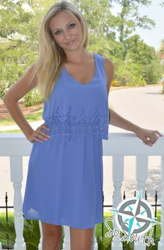 Online Boutique — Sweet as Sugar Periwinkle Dress, V Neck Dress, Online Boutiques, Lace Detail, Stylish, Sweet, Summer, How To Wear, Shopping