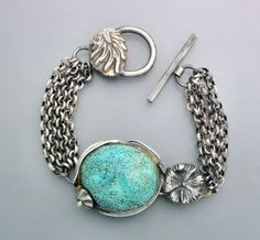 Boulder Opal and Turquoise Bracelet 2 by Temi on Etsy