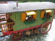 Verdine et Chariot de berger - maison de poupée - vitrines miniatures                                                                                                                                                     Plus