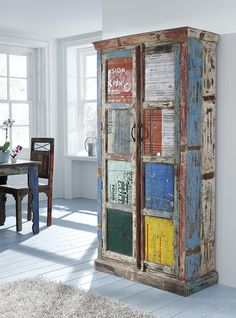 JEITO DE BELLA...: Móvel colorido de madeira ...