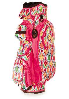 Slam Glam - All For Color Multi Ikat Ladies Golf Bag, $184.98 (http://www.slamglam.com/all-for-color-multi-ikat-ladies-golf-bag/) Super colorful fun golf bag!!! #golfbags #ladiesgolfbags #allforcolorgolf
