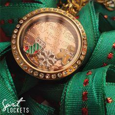 #Gingerbreadman inspired Spirit Locket! #stocking #snowflake #rosegold #bow