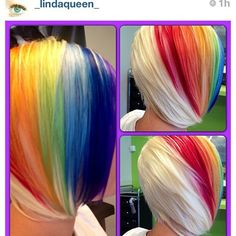 hair, hair color, rainbow, rainbow hair