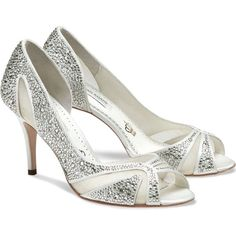 Benjamin Adams Catherine Ivory Crystal Wedding Shoes ❤ liked on Polyvore featuring shoes, crystal wedding shoes, wedding shoes, ivory shoes, benjamin adams shoes and crystal bridal shoes