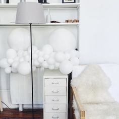 And as if by magic my apartment becomes a balloon shrine once more. #minimal #minimalaffair #interior #design by amalieoneill