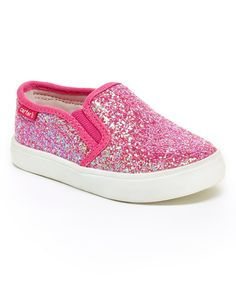 Another great find on #zulily! Pink Glitter Tween Slip-On Sneaker by Carter's #zulilyfinds