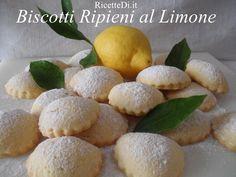11_biscotti_ripieni_al_limone Biscotti Biscuits, Hamburger, Bread, Desserts, Food, Biscuits, Tailgate Desserts, Deserts, Brot