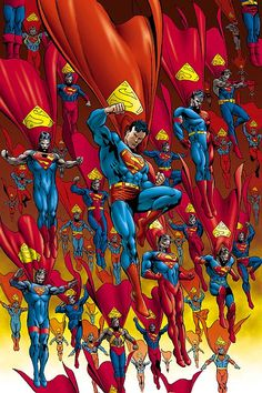 Family of super. Be afraid. Look at man of steel now add a whole family. Exterminate!