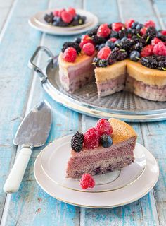 Triple Berry Japanese Cotton Soft Cheesecake by raspberri cupcakes, via Flickr