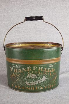 Frank P. Hall No. 602 10 Quart Minnow Bucket With Sil