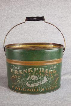 Frank P. Hall No. 602 10 Quart Minnow Bucket With Sil