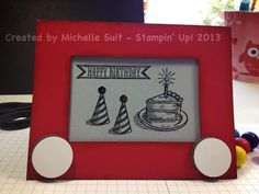 Stampin' Up! Birthday by Michelle S: A fun card with a vintage toy feel.  :-)  #etchasketch  #birthday  #alloccasion  #stampinup  #stampinsuitsme