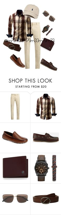 """""""Untitled #535"""" by m79m33 ❤ liked on Polyvore featuring Calvin Klein Collection, To Boot New York, Timberland, Mulberry, FOSSIL and Z Zegna"""