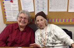 Office volunteers, Joan and Joyce