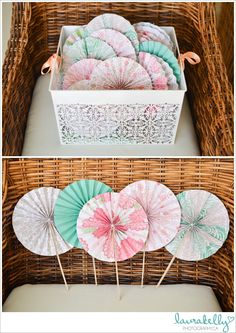 DIY wedding ceremony fans, coral and mint green wedding, ceremony fans destination wedding, crinkle fans