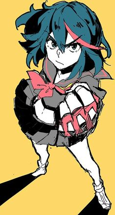 ADOPTED Roxie is an MMA fighter. She's got a fiery spirit and a heart of steel. She's very powerful and quick-witted. Kill La Kill Cosplay, Kill A Kill, Manga Anime, Anime Art, Gurren Laggan, Character Art, Character Design, Gamers Anime, Anime Kawaii