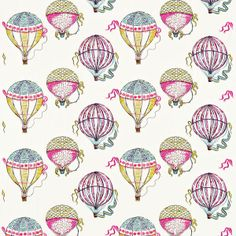 Beautiful Balloons wallpaper by Sanderson for Lyons Lyons Nicholson Jones Fabric Wallpaper, Pattern Wallpaper, Cool Patterns, Print Patterns, Ballon Illustration, Pattern Illustration, Harlequin Fabrics, Decoupage, Sanderson Fabric