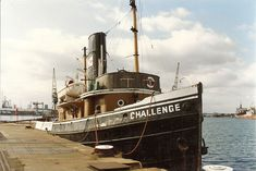 I worked on the Challenge in the when I worked for Ship Towage Ltd on 'relief crew no Read about my time on the Thames tugs in my book PAID TO LIVE THE DREAM, and the book A TUGMAN'S TALE which is extracted from it. Sunless Sea, Tugboats, Anthony Edwards, Boat Art, Oil Rig, Ship Art, Boat Plans, Yachts, Locomotive
