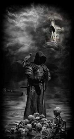 The grim reaper Grim Reaper Art, Don't Fear The Reaper, Reaper Statue, Dark Fantasy Art, Dark Art, Dark Gothic Art, Gothic Artwork, Vampires, Totenkopf Tattoos
