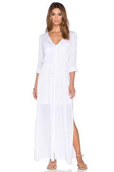50c856741f43 Splendid Button Down Maxi Dress in White Pregnancy Fashion Winter